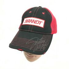 Justin Allgaier #7 BRANDT JR MOTORSPORTS red//white cap with mesh
