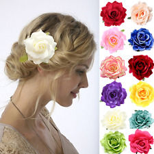 Pince à Cheveux Rose Broche Fleur Barrette Clip Parure pour Plusieurs Couleurs