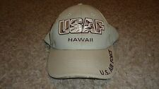 Ball Cap, USAF promo, Tan with Camo lines, Exc. Cond. $19.95