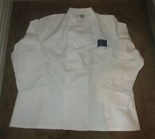 Princess Cruises White Chef Jacket w/ C.R.U.I.S.E Patch ~ Mens Xl -Size 48 ~New!