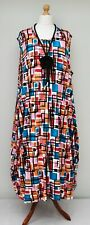 "PLUS SIZE SQUARE PRINT BALLOON MAXI BIG DRESS*MULTI*BUST UP TO 62"" XXXL-XXXXL"