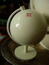RARE Auth LOUIS VUITTON Small White Display GLOBE Decor Desk Accessory LV