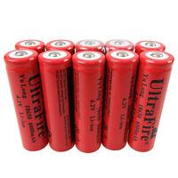 2/4/6/8/10/12x 18650 Batteries 6000mAh 3.7V-4.2V Li-ion Rechargeable Battery