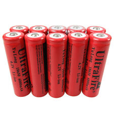 10 X 3.7V-4.2V 18650 Li-ion 6000mAh Rechargeable Battery for Flashlight Accu BRC