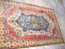 Hand Finished FADED LOOK Medium Indian Persian WOOL Rug 122 x 188 cms