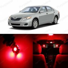 12 x Red LED Interior Lights Package For 2007 - 2011 Toyota Camry + PRY TOOL