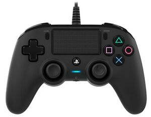 Nacon Controller Wired Black PS4 PLAYSTATION 4 PS4OFCPADBLACK Nacon