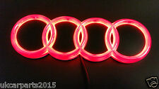 RED New HQ AUDI A3 A4 A6 A5 Badge Light Auto Led Emblem 4d shelf Adhesive