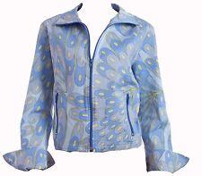 Averardo Bessi Cotton Jacket Abstract Print Zippers Size 8
