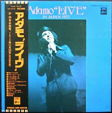 ADAMO LIVE RARE 33T LP JAPON IN JAPAN 1972 EMI ODEON EOP 80.708 + OBI + LIVRET