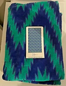 Mainstays Beach Towel Blue Green 34 in x 64 in 100% cotton