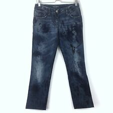 NWOT Authentic DOLCE & GABBANA PAINTED Distressed LOGO JEANS Size 40 EUR 4 US