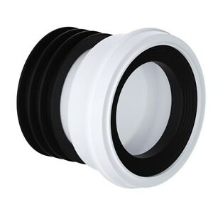 Straight WC Pan Connector to 110mm Soil Pipe Straight Toilet Pan Connector