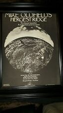 Mike Oldfield Hergest Ridge Rare Original Promo Poster Ad Framed!