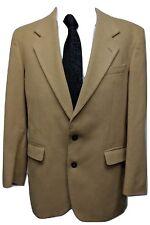 Pierre Balmain Paris Men's Blazer Size 44R Tan Camel Hair Suit Coat Jacket