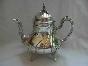 ANTIQUE FRENCH STERLING SILVER TEA POT,LOUIS 15 STYLE,LATE19th CENTURY