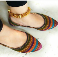 Rajasthani Handwork Stylish Mojari Punjabi Pary Flip Flop Designer Morjari Shose