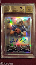 Andrew Luck  2012 Topps Chrome Refractor Variation SP Auto RC BGS Gem Mt 9.5/10