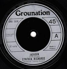 "CYNTHIA RICHARDS-jackson    grounation 7""    (hear)    reggae"