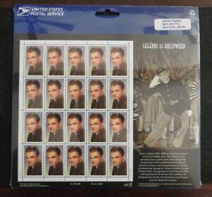 USA Scott 3329; James Cagney MNH Pane of 20 Sheet Original Wrap; FV $6.60