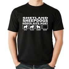 T-shirt Shetland Sheepdog oír a la palabra señores perros motivo perros Sheltie