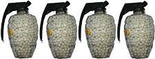 4 TUBS OF 1500 WHITE PLASTIC BB GUN PELLETS / BULLETS - 6MM 0.12G - 6000 PELLETS