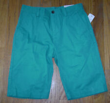 NWT BROOKS BROTHERS BOYS DRESSY SHORTS size 12 GREEN 100% COTTON 100024103