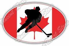 """Canada Flag Ice Hockey KHL NHL Team Oval Car Bumper Vinyl Sticker Decal 6""""X4"""""""