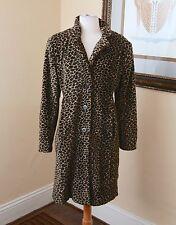 Vintage Marvin Richards Plush Cheetah Leopard Print Faux Fur Coat Jacket 5 S