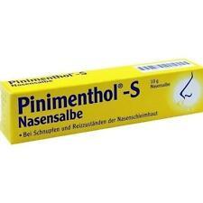 PINIMENTHOL S Nasensalbe 10 g PZN 3745410