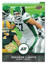 2016 UPPER DECK CFL VETERAN UPDATE #U9 Brendon LaBatte