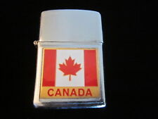 Vintage Canada flag cigarette cigar lighter Japan canadian mapleleaf Works old
