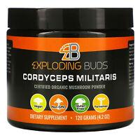 Cordyceps Militaris, Certified Organic Mushroom Powder, 4.2 oz (120 g)