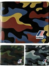 Portafoglio Uomo K-Way K-Camu Wallet Men Billfold 10cc K9403