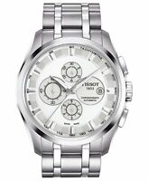 Tissot Men's Swiss Automatic Chronograph Couturier Stainless Steel Watch USED