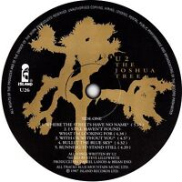 U2 record label vinyl stickers. Joshua Tree, Boy, Rattle & Hum, Bono, The Edge