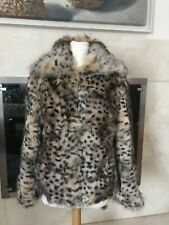 ST. JOHN GENUINE FOX Coat Zip Front by Marie Gray Sz Large