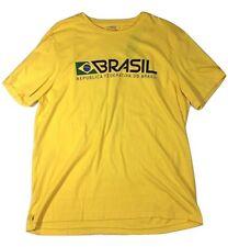 POLO RALPH LAUREN T SHIRT MENS YELLOW BRASIL BRAZIL SOCCER FOOTBALL