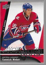 09/10 Upper Deck Young Guns Rookie RC Yannick Weber 220 Canadiens