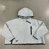 NWT Nike BV3396-063 Women Sportswear Tech Fleece Cape Hoodie Grey Black Size S