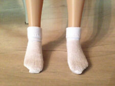 "2 Pr White Ankle Socks for  14"" Patience, 12"" Marley, or 12"" slim doll"