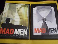 (2) Mad Men Season DVD Lot: Seasons 1 & 2    Jon Hamm    8 DVDs