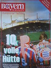 Programm 1995/96 FC Bayern München - Eintracht Frankfurt