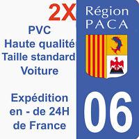 Sticker autocollant immatriculation département 06 Alpes-Maritimes région Paca