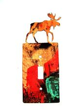 Moose Single Light Switch Cover Plate by Steel Images Usa 6515Tt