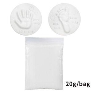 20g Soft Baby Care Air Drying Clay Baby Handprint Footprint Imprint Kit Casting