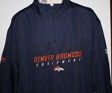 NFL Denver Broncos Reebok Men's Large 1/4 Zipper Pullover Jacket