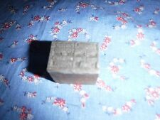 Antique Printing Block Metal  Wood  Member Credit Bureau of Cedar Rapids Iowa