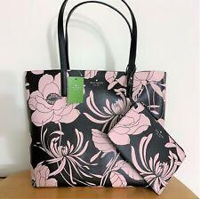 Kate Spade Floral Reversible Tote & Wristlet ~ Gardenia Print Arch Place Mya Bag