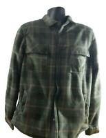 NWT Men's Voyager Sherpa Lined Snap-up Flannel Shirt/Jacket w/Pockets